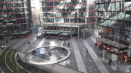 Sony Center desde arriba Berlin tour guiado, visita guiada  turistica
